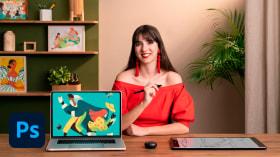 Illustration de personnages féminins avec du style sur Photoshop. Un cours de Illustration de Joana Neves