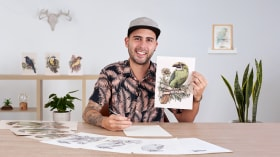 Naturalist Illustration with Ballpoint Pen . A Illustration course by Ricardo Macía Lalinde