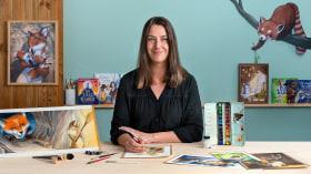 Creación de personajes animales en acuarela para libros infantiles. Un curso de Ilustración de Julie Mellan
