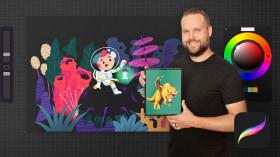 Procreate for Beginners: Digital Illustration 101. A Illustration course by Brad Woodard