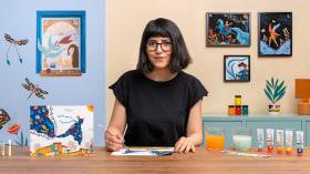 Pittura a guazzo: crea illustrazioni poetiche. Un corso di Illustrazione di Cagla Zimmermann