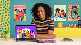 Criação de personagens vibrantes com as cores da inclusão. Um curso de Ilustração de Aurélia Durand