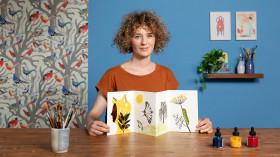 Ilustração experimental criativa com nanquim e tinta acrílica. Um curso de Ilustração de Elisa Talentino