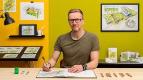 Dibujo arquitectónico: de la imaginación a la conceptualización. Un curso de Ilustración, Arquitectura y Espacios de Pavel Fomenko