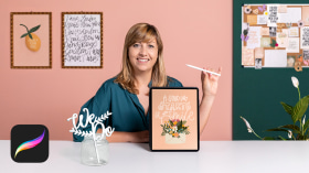 Calligraphy and Lettering Fundamentals in Procreate. A Calligraphy, and Typography course by Chiara Bacchini