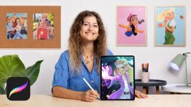 Creación de personajes femeninos estilo cartoon con Procreate. Un curso de Ilustración de Isabella Agosti