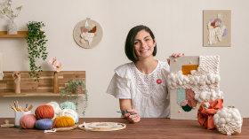 Cuadros textiles: combina tejido, bordado y punch needle. Un curso de Craft de Julie Robert