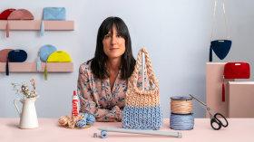 Diseño y tejido de bolsos con cordón de seda. Un curso de Craft y Moda de OLVIDO MADRID