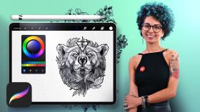 Diseño e ilustración digital de tatuajes con Procreate. Un curso de Ilustración de Tania Maia