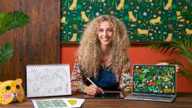 Ilustración digital de patrones inspirados en la naturaleza. Un curso de Ilustración de Laura Lhuillier