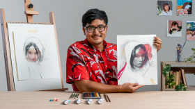 Mixed Media Portraiture: Capturing Expressions and Emotions. A Illustration course by Daniel Segrove
