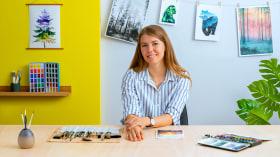 Acuarela con doble exposición: pintura de naturaleza. Un curso de Ilustración de Jessica Janik