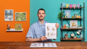 Kreation von Charakteren für Aquarell-Bilderbücher . A Illustration course by Lorenzo Sangió