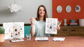 Criação de aquarelas para ilustração narrativa. Um curso de Ilustração de Cécile Metzger