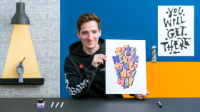 Lettering im Graffiti-Style. A Kalligrafie und Typografie course by Snooze One