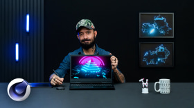 Animationsschleifen mit Cinema 4D. A 3-D und Animation course by Fabricio Lima