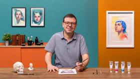 Portrait contemporain à l'aquarelle . Un cours de Illustration de Nuno Pinto