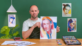 Dibujo de retratos expresivos con tizas pastel. Un curso de Ilustración de Chris Gambrell