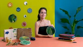 Bordado de plantas com agulha: crie uma composição vegetal. Um curso de Craft de Zélia Smith