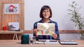 Mondi immaginari illustrati con inchiostro e acquerelli. Un corso di Illustrazione di Flor Kaneshiro