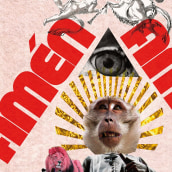 """Ofú teatro presenta: """"Amén Amén"""". Um projeto de Design, Ilustração, Direção de arte, Design gráfico e Tipografia de J.M. Chafino - 31.05.2010"""