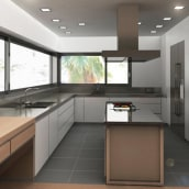 Infografía 3D Cocina. A Design, Installations, and 3D project by IngenioVirtual - 11.06.2011
