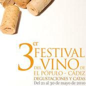 Festival del Vino de El Pópulo: Cartel 3ª edición. Um projeto de Design e Publicidade de Paco Mármol - 06.06.2012