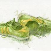 Acuarelas y zapatillas. A Illustration project by Josep Segarra - 10.04.2012
