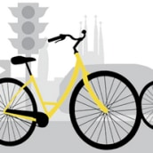 Biking in Barcelona. A Design, Illustration, UI / UX & IT project by Natalia Solar - 01.20.2013