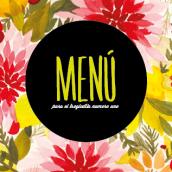 Menú Mienguense. Um projeto de Design gráfico de Julia Martínez Bonilla - 08.02.2014