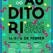 Carteles para la Inaugruación del Auditori de Can Batlló (Barcelona). Un proyecto de Diseño y Diseño gráfico de Hugo Cornelles Llobregat - 16.02.2014