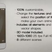 Promote Your iPhone 5s APP . Um projeto de 3D, Cinema, Vídeo e TV e Motion Graphics de Borja Aguado Aizpun - 09.03.2014