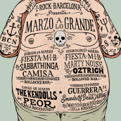I-Rock Barcelona Poster. A Graphic Design & Illustration project by Lorenzo Pierro - 05.05.2014