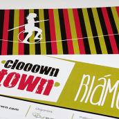 Logomarca y aplicaciones publicitarias para Clooown Town. A Graphic Design, and Advertising project by Antía Méndez Conde-Pumpido - 06.15.2014