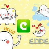 COCO Stickers - Edde. Un proyecto de Diseño de personajes e Ilustración de Alejandra Morenilla - 30.06.2014