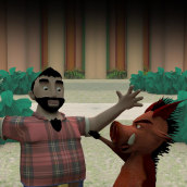 3D Animation. Lacon&Ron. Personal Project. A Design, Film, Video, TV, 3D, Animation, Character Design, Multimedia, and Post-production project by Hugo Piñón Beceiro - 11.28.2012
