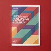 Diseño del Informe sobre redes sociales y empleo 2013. A Editorial Design project by Estudio Menta - 07.22.2014