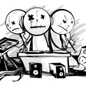 The Killer dolls & The House Rejects. Um projeto de Design, Ilustração, Música e Áudio e Design gráfico de Laura Zamora - 11.08.2014