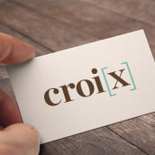Croi[x]. Un projet de Direction artistique, Conception éditoriale , et Design graphique de Dana Riesgo - 18.08.2014