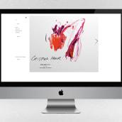 Fotografías para la web de la artista contemporánea Cristina Mur . Um projeto de Fotografia e Pintura de Alba Deliz - 29.08.2014
