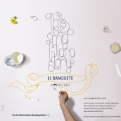 """El Banquete"" (Con Martín Satí y alumnos de Mr Marcel School). Um projeto de Ilustração, Fotografia, Direção de arte e Culinária de Alba Deliz - 17.08.2014"