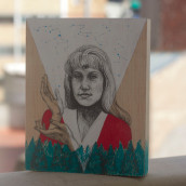 Dibujando a Laura Palmer. Un projet de Illustration, Beaux Arts, Multimédia , et Peinture de Celeste Ciafarone - 08.10.2014
