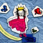 cuento infantil en serigrafía sobre collage. A Siebdruck project by dobibu - 11.05.2011