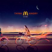 McDonalds: Think Angry. A Advertising, and Art Direction project by Mr. Kuns ™ - 10.28.2014