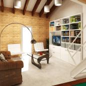 Remodelación y renders en 3D de un loft en un ático. Varias opciones.. A Design, 3D, Interior Architecture & Interior Design project by Aranzazu Hurtado Ruiz - 09.30.2010