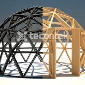 Render en 3D de un espacio interior de una cúpula. A Design, 3D, Industrial Design, Interior Architecture, Interior Design, and Product Design project by Aranzazu Hurtado Ruiz - 06.12.2014