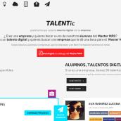 TALENTIC, plataforma que conecta el talento digital con la empresa   Beca #MasterMPD. A Design, 3D, Animation, Br, ing, Identit, Character Design, Graphic Design, Post-production, To, Design, Web Design, and Web Development project by MyriamCarrel_NETT - 09.03.2014