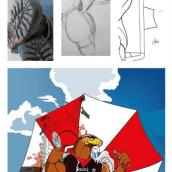 Concentración motera Las Záguilas. . Un proyecto de Ilustración de Fran Villano Sánchez - 23.04.2014