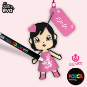 MY LITTLE EVA - Carchiarts. A Design, Illustration, Art Direction, Character Design, Graphic Design, Packaging, Product Design, To, and Design project by Emilie - 11.10.2014