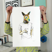 Coffee to go. A Illustration, and Screen-printing project by Barba - 11.17.2014
